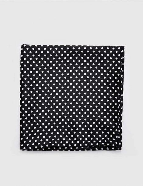 Black-Dotted-Pocket-Square