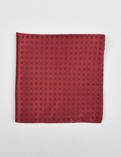 Red-Geometric-Silk-Pocket-Square