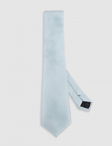 Silver-floral-silk-tie