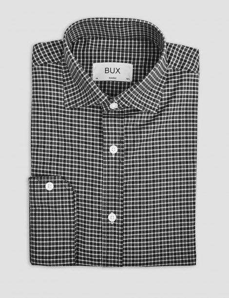 black-gingham-twill-shirt-buxstyle-2