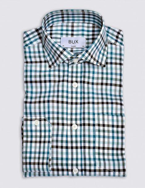 cyan-twill-checked-shirt