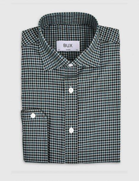 dark-green-gingham-twill-shirt-2