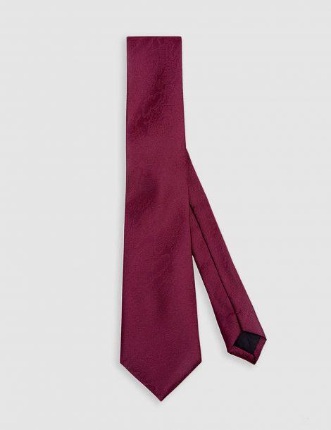 mahroon-floral-silk-tie