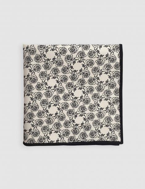 white-floral-pocket-square